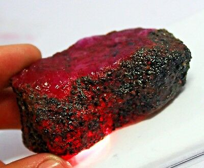 575.00Ct EGL Certified Natural Excellence African Red Ruby Rough Gemstone AT4209