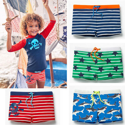 US Boy Kids Swimming Shorts Swimwear Summer Beach Swim Trunks Pants Clothes