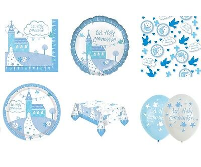1st HOLY COMMUNION CHURCH BLUE/BOY Party Range Tableware & Decorations{AMSCAN}1C