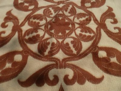 vintage Wool  FLEUR DE LIS   BLANKET throw reversible