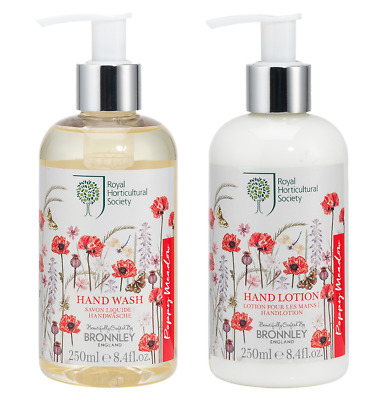 DUO Bronnley POPPY MEADOW Hand Wash 250ml + Hand Lotion 250ml