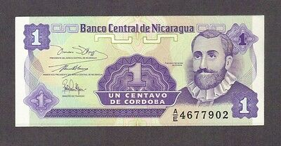 1991 1 One Centavo Nicaragua Currency Gem Unc Banknote Note Money Bank Bill Cash