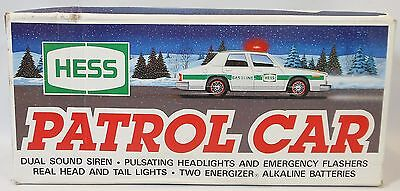 HESS TOY PATROL CAR DUAL SOUND SIREN VINTAGE 1993 NEW in the ORIGINAL BOX