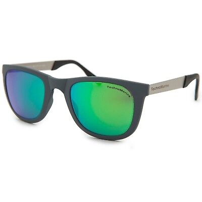 Technomarine Black Reef TMEW001 Mirrored Gradient Lens Sunglasses -Made in Italy