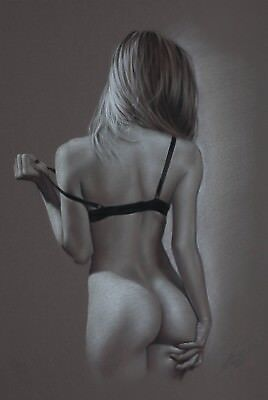 """Pin Up*** Female Nude nu Pastel by grafik-art Akt """" Special Edition """""""