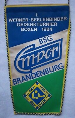 Orig.Wimpel   I.Internationales Turnier im Boxen  BRANDENBURG 1984  !!   SELTEN