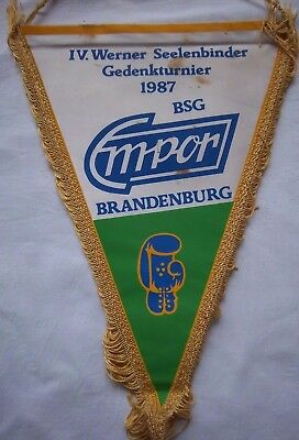 Orig.Wimpel   IV.Internationales Turnier im Boxen  BRANDENBURG 1987  !!  SELTEN