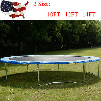 10 12 14FT Round Safety Frame Pad Spring Pad Replacement Cover Trampoline Toy US