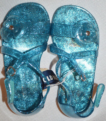 4a7d3e0cd BABY GIRL S OLD Navy Blue Glitter Strappy Jelly Sandals Shoes Sizes ...