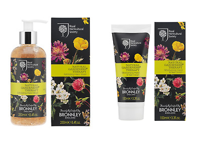 DUO Bronnley NATURAL GARDENS THERAPY Exfoliating Hand Wash + Hand Cream