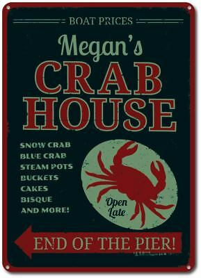 Crab House Sign, Personalized Seafood Restaurant Name Sign ENSA1001193