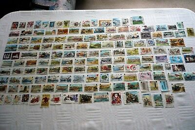Job Lot 150 Used Isle of Man Postage Stamps - Off Paper