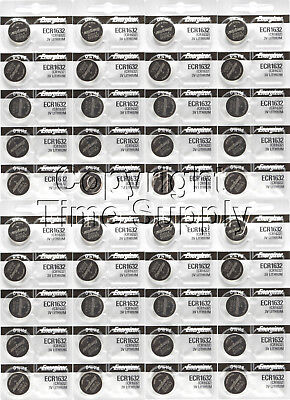 40 pc 1632 Energizer Watch Batteries CR1632 CR 1632  Lithium Battery 0%HG
