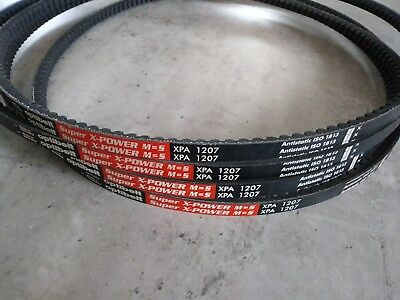 4 x OPTIBELT Keilriemen Super X-POWER M=S XPA 1207