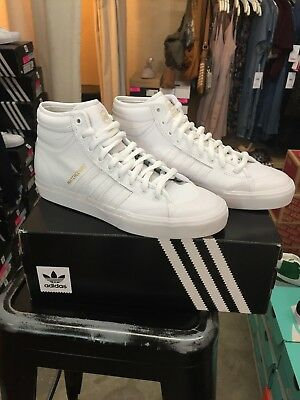 b08628f7872 ADIDAS MATCHCOURT HIGH RX2 Men s Skateboard Shoes - White White Gold ...