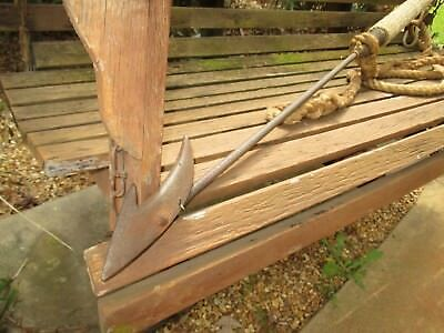 """Vintage Antique Whaling Whale Seal Harpoon Iron Shaft & Point 74"""""""
