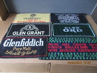 Scotch Malt Whisky Bar Towels In Excellent Condition