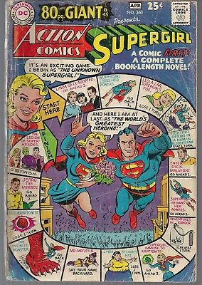 ACTION COMICS #360 G45 80 pg GIANT DC 04/68 SUPERGIRL REPRNT ORIGIN LOSH ++ VG-