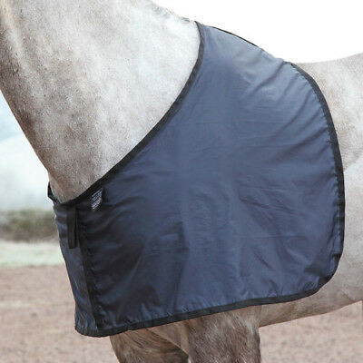 Shires Satin Anti Rub Unisex Horse Rug Bib - Navy All Sizes