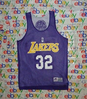 7e2884e7 Vintage Youth's Nba Los Angeles Lakers # 32 Russell Reversible Jersey Small