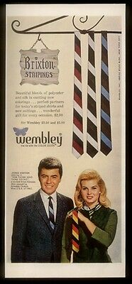 1964 James Darren photo Wembley men's ties vintage fashion print ad