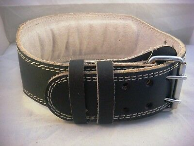 """Leather Weightlifting Belt Padded Size Small 22""""-24"""" (Old Stock)"""