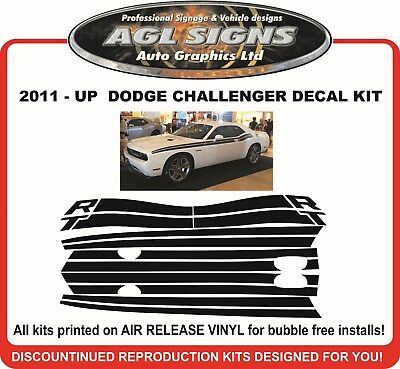 2011 - UP  DODGE CHALLENGER RT STRIPE KIT GRAPHIC  R/T reproduction