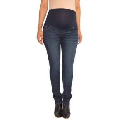 NWT Great Expecations Size XXS 0 - 2 Full Panel Denim Skinny Maternity Jeans NEW