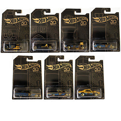 Hot Wheels EMC 50th Anniversary Black and Gold Series *CHOOSE YOUR CAR*