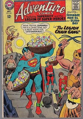 Adventure Comics #360 Dc 09/67 Superboy Mon-El Legion Super-Heroes Chain Gang Fn