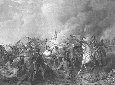 War of 1812 BATTLE OF NEW ORLEANS Andrew Jackson ~ 1865 Art Print Engraving RARE