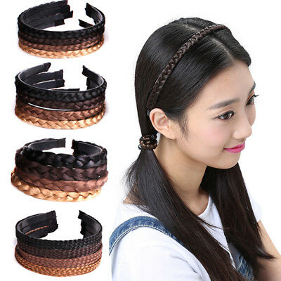 Best selling with twisted braid wig headband Lady