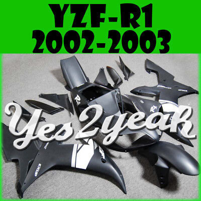 Yes2yeah Injection Fairings for Yamaha YZF 1000 YZF-R1 02 03 Matte Black Y12Y20
