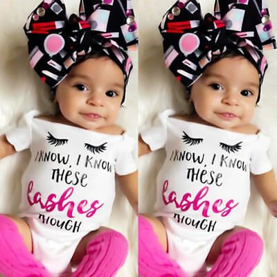 Fashion Newborn Baby Girls Cotton Romper Bodysuit Jumpsuit Outfit Clothes Summer