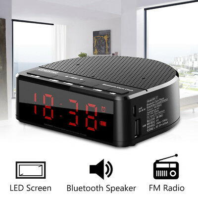 "LEADSTAR MX-17 Bluetooth Speaker Handsfree 3.5"" LED Screen Clock Alarm FM Radio"
