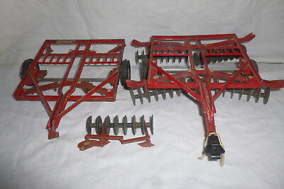 Lot of 2 ~ Vintage ERTL International IH Chisel Plows PARTS/REPAIR