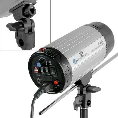 300W Silver Photography Studio Adjustable Strobe Flash Continuous Light w/ Blub