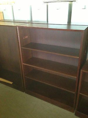 """***SOLID WOOD BOOKCASE by HALE FURNITURE, INC in MAHOGANY COLOR WOOD 48""""H***"""