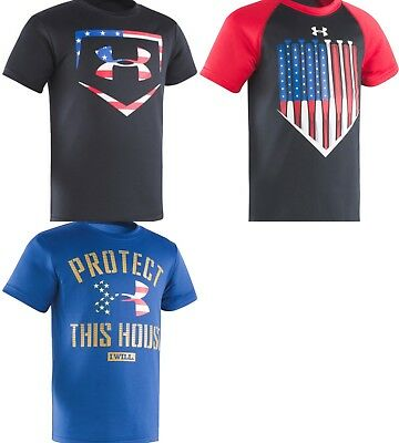 New Under Armour Boys Toddler Logo-Print T-Shirt Size 2T, 3T, 4, 5, 6, 7