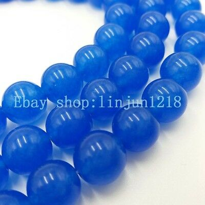 """Natural! 6mm Round Blue Sapphire Gemstone Loose Beads 15"""" AAA"""