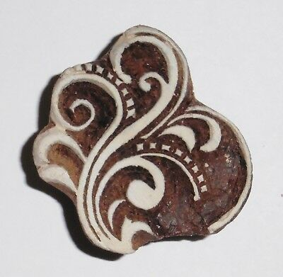 Floral Shaped 5.1cm Indian Hand Carved Wooden Printing Block (2018-FL-3)