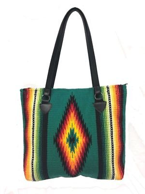 Southwest Ladies Serape Purse Tote San Carlos Shopper Soft Colorful Design B
