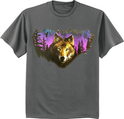 a16e1ee799ea Night Wolf t-shirt wolves wolf pack moon decal graphic tee gift for men  wildlife