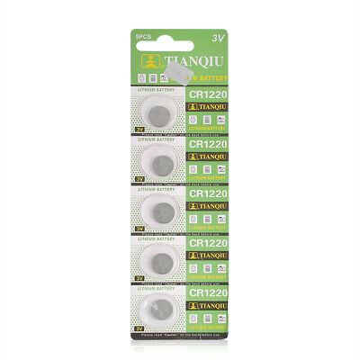 5PCS 3V CR1220 DL1220 ECR1220 3 Volt Button Coin Cell Battery For Watch Toys