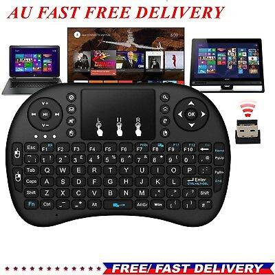 Wireless Remote Keyboard Mouse for Laptop Smart Android Kodi TV Box Touch Pad AU