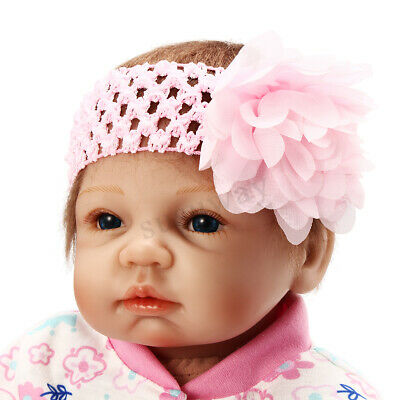 22'' LifeLike Reborn Baby Doll Silicone Soft Girl Kids Newborn Handmade Toy Gift