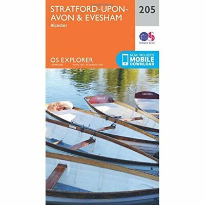 OS Explorer Map (205) Stratford-upon-Avon and Evesham - Map NEW Ordnance Survey