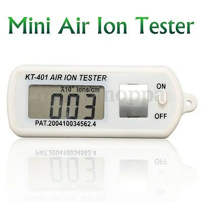 Air Ion Tester Meter Counter -ve Negative Ions With Peak MAXIMUM Hold Battery