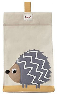 3 Sprouts Nappy Stacker, Grey Hedgehog