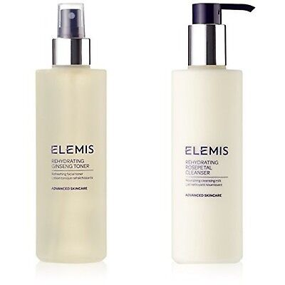 Elemis Rehydrating Ginseng Toner and Rehydrating Rosepetal Cleanser Bundle